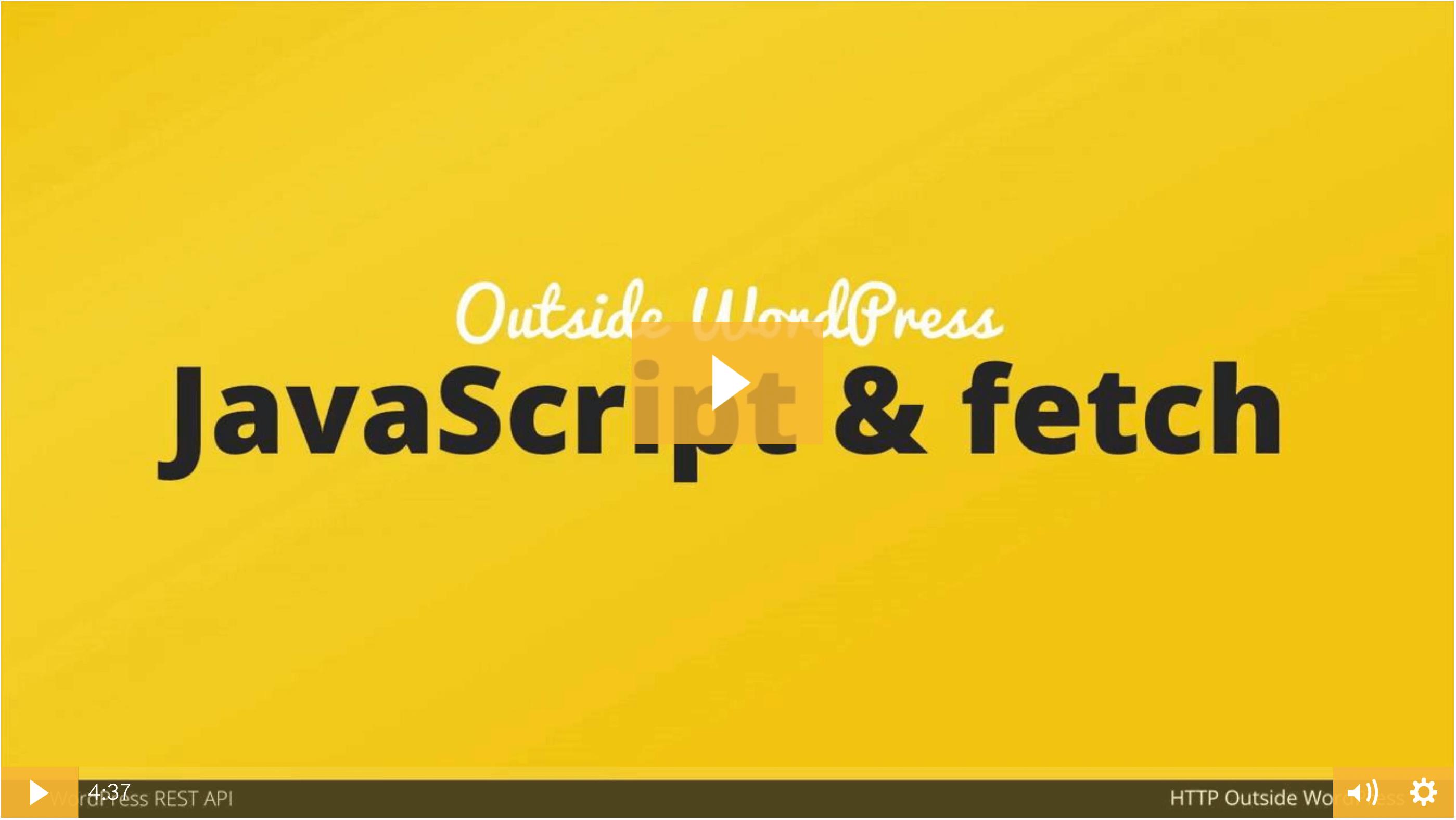 Decoupled WordPress REST API Calls with Vanilla JavaScript