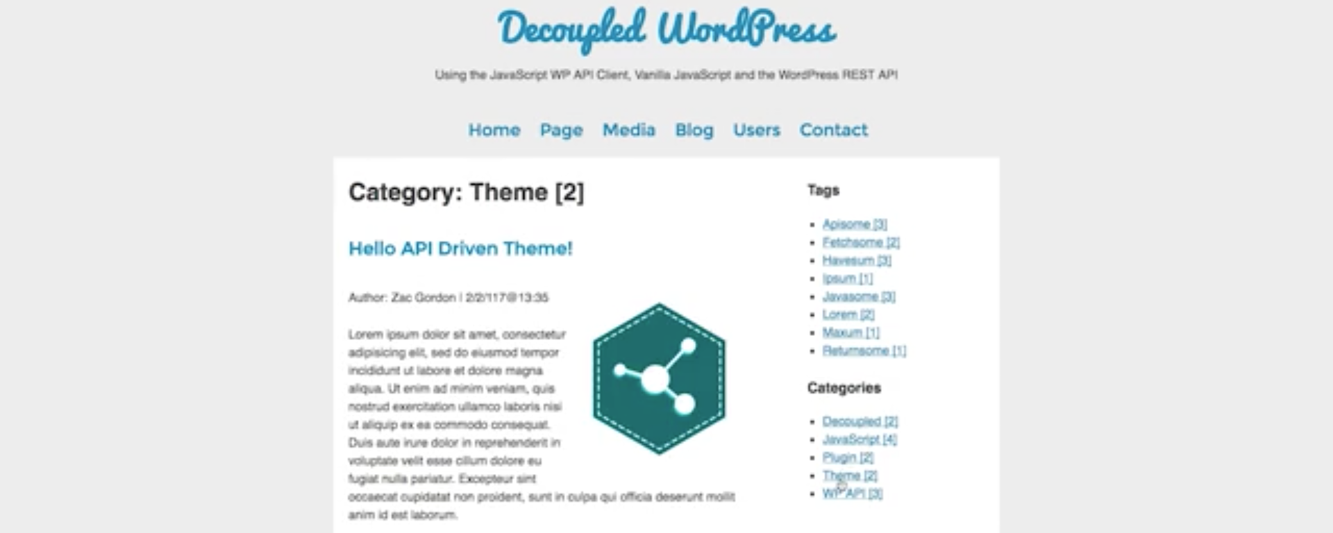Project Introduction – A Decoupled WP Powered JavaScript Site