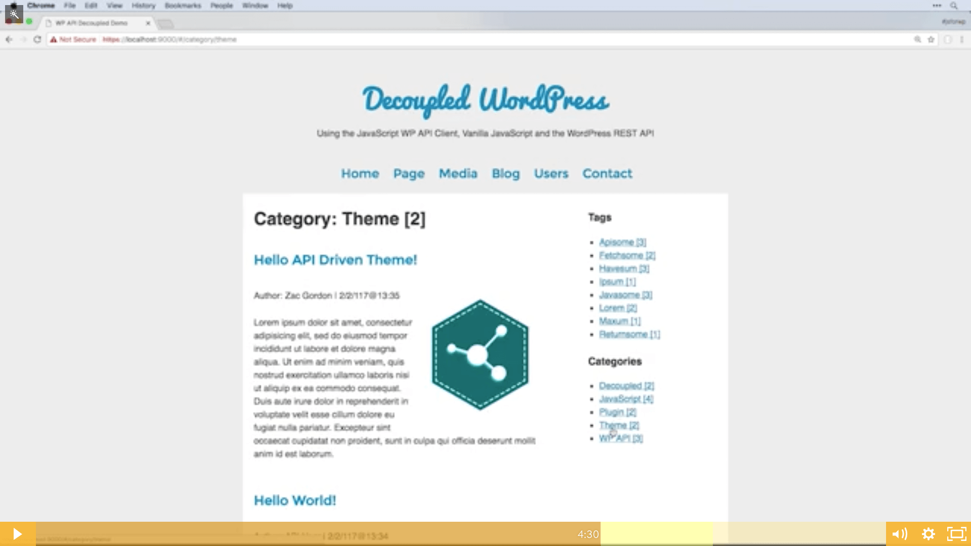 Decoupled WordPress REST API JavaScript Project - JavaScript for WordPress Master Course
