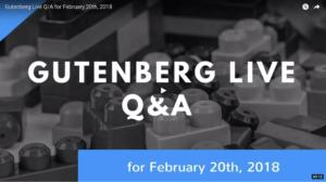 The Gutenberg Live Show