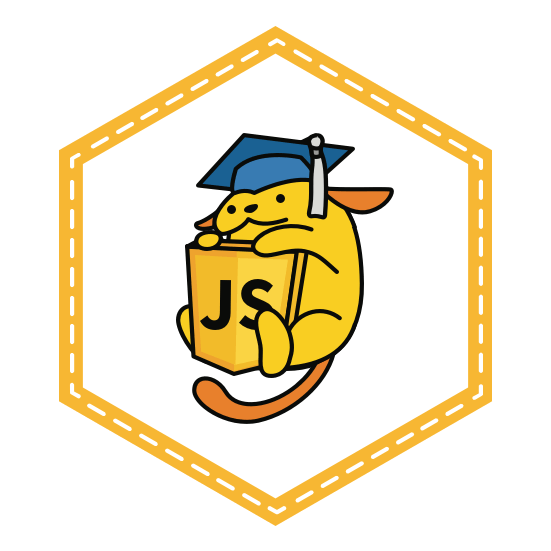 JavaScript for WordPress Wapuu Badge