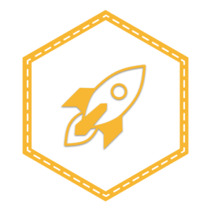 Rocketship Project Badge - JavaScript for WordPress
