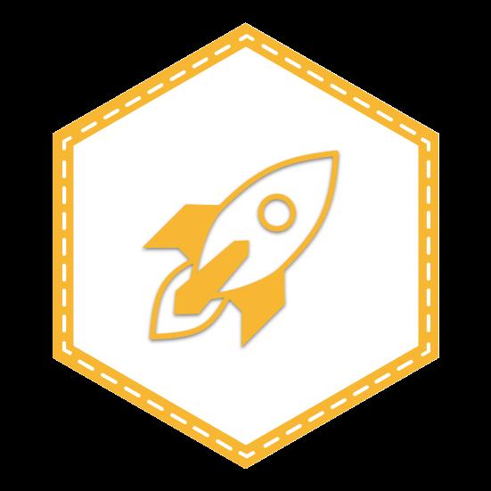 Rocketship Project Badge - JavaScript for WordPress