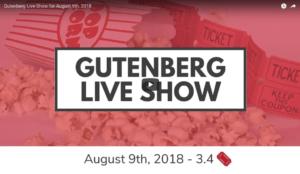 Gutenberg Show 3.5 🎟