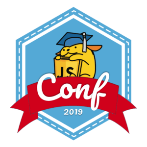 The JavaScript for WordPress 2019 Conference Wapuu Logo