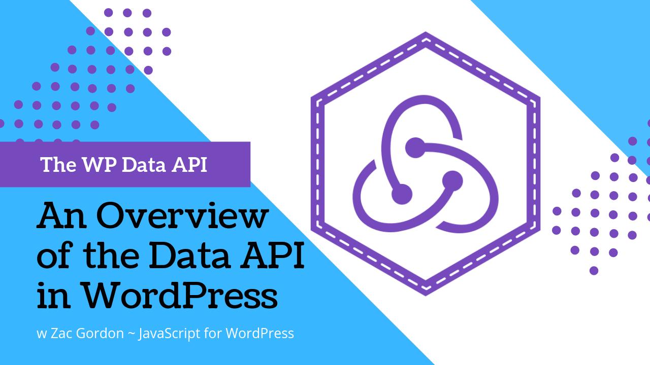 The WordPress Data API Banner with Redux Logo