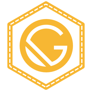 Gatsby JS Badge in JavaScript Yellow